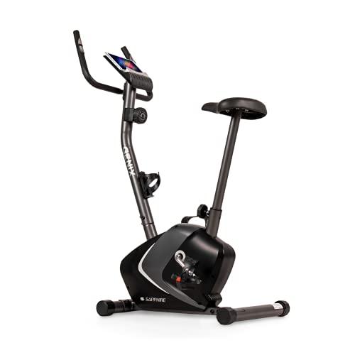 Heimtrainer Fitness Fahrrad Hometrainer Ergometer Trimmrad Bike bis 120kg belastbar Trainingsgerät Training Pulsmessung 8 Widerstandsstufen Heimtraining