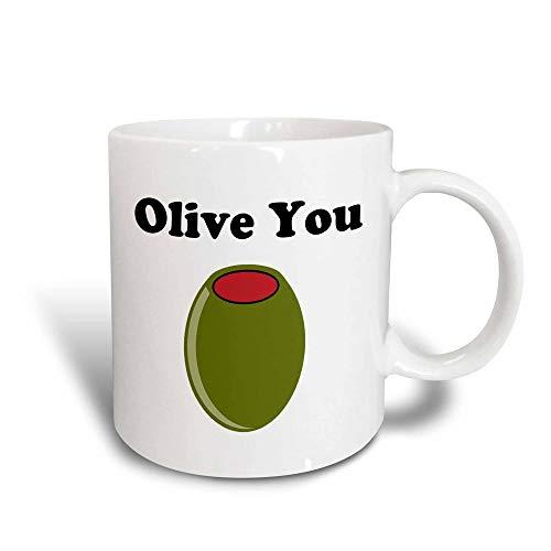 N\A Taza Olive You, Negro/Blanco