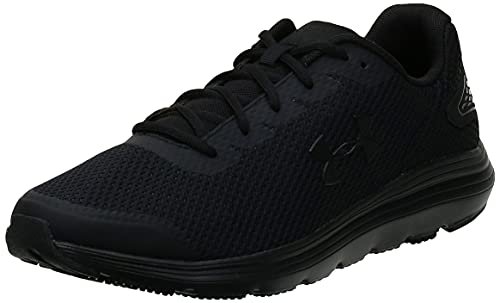 Under Armour mens Surge 2 Running Shoe, Black (002 Black, 8.5 US