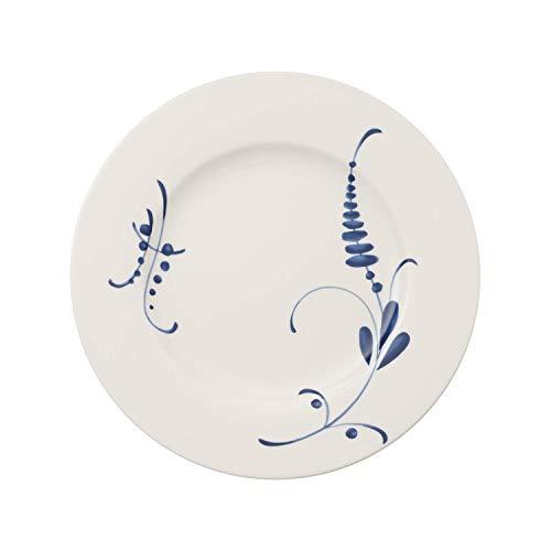 Villeroy & Boch Vieux Luxembourg Brindille, Geschirr aus hochwertigem Premium Porzellan in Blau und Weiß, 27 cm, Speiseteller