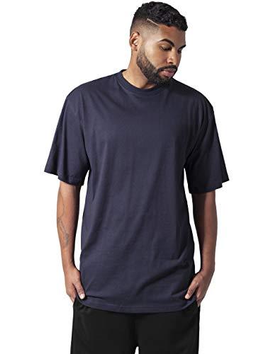 Urban Classics Basic Crew Neck Tall Tee, Camiseta, para Hombre, navy, 6XL