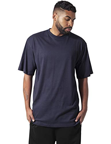 Urban Classics Basic Crew Neck Tall tee Camiseta, Navy, 6XL para Hombre