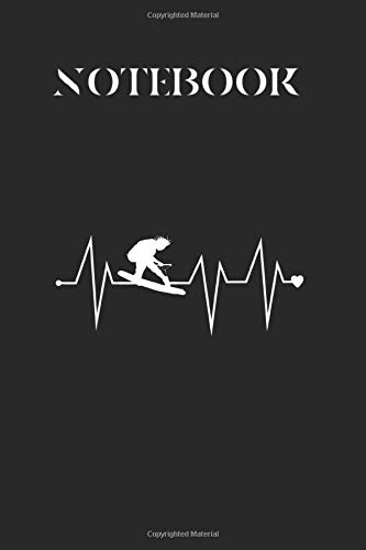 Notebook: Funny Wakeboarding Wakeboard Heartbeat Heart Pulse Rate Ekg College Ruled Composition Book for Students Writers School Note Taking Perfect ... notes lectures tutorials  planning 6 x 9 in