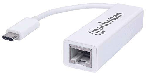 Manhattan 507585 Carte réseau Ethernet 100 Mbit/s - Cartes réseau (avec Fil, USB Type-C, Ethernet, 100 Mbit/s, Blanc)