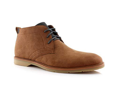 Ferro Aldo Marvin MFA506032 Chukka Boots Mens Desert Casual Leather Lightweight Classic Casual Chucka Boots for Mens Brown