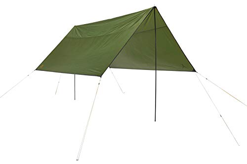 Grand Canyon Shelter Zuni 4 - Tarp/Sonnensegel 400 x 400 cm - Quadratische Form, UV50+, Wasserdicht - Capulet Olive (Grün)
