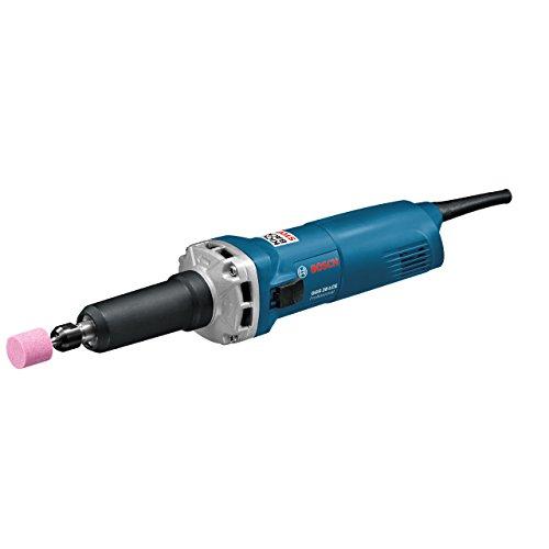 BOSCH Professional 0601221100 - Amoladora recta GGS 28 LCE Professional. 650 W. 10.000-28.000 rpm. Ø Máx. pinza de sujeción: 8 mm. 1,6 Kg con Caja de cartón, Negro/Azul