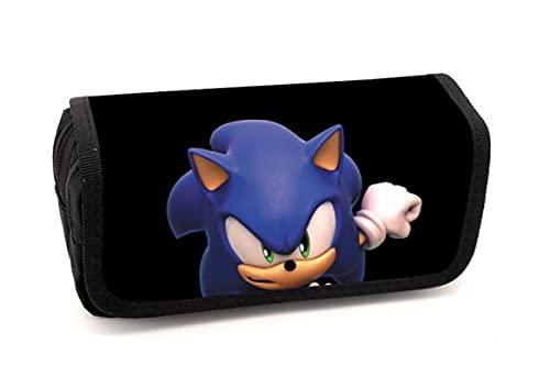 XINHENG Anime papelería El nuevo erizo Sonic anime papelería masculina primaria y secundaria estudiantes multifunción gran capacidad lápiz bolsa creativa papelería almacenamiento