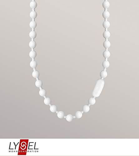 Zubehör Ersatz Bedienkette für Rollo Grande aus 100% Polyester - in weiß - L 4m
