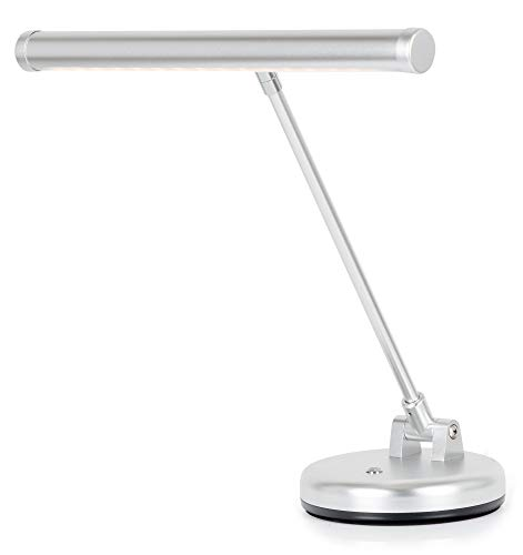 Showlite LED Lampe à Piano Argenté matt