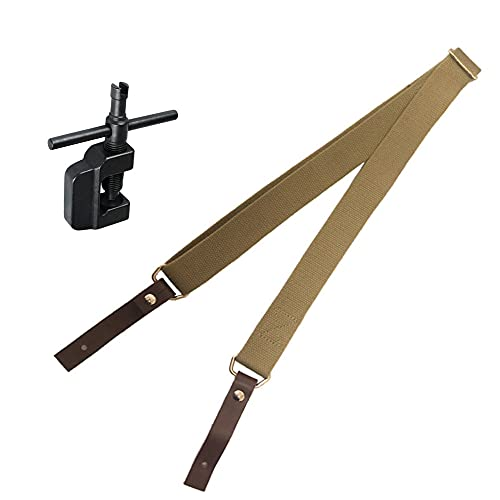 The Original Soviet Canvas Rifle Sling Includes a 7.62x39mm Rifle Adjustment Tool for AK/SKS