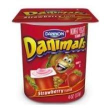 Danimals Strawberry Nonfat Yogurt , 4 Ounce Cup -- 48 per case.