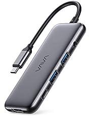 Hub USB C VAVA, Adattatore USB C 8 in-1 con HDMI 4K a 60Hz, 5Gbps Porta dati USB-C e 2 USB-A, Porte USB 3.0, Lettori SD e TF, Ricarica PD da 100W, compatibile Thunderbolt 3, per Dispositivi Type C