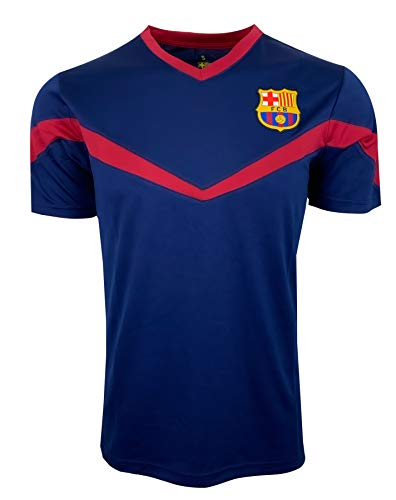 Icon Sports FC Barcelona Training Jersey (Adult Sizes), Licensed Barcelona Shirt (X-Large) Blue