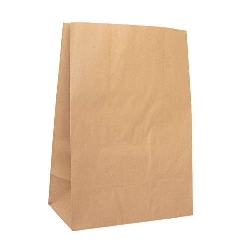 kgpack 50 Stk. Papiertüten groß 26 x 14 x 40 cm Bodenbeutel, auch, Obstbeutel, Mitgebseltüten, Butterbrottüten, Süßigkeiten, Geschenkverpackung, Gastgeschenke Tüten aus Braun Kraft Geschenkpapier