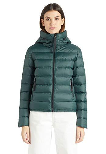 khujo Damen Jacke Filippa Kurze und leichte Steppjacke mit hochschließender Kapuze