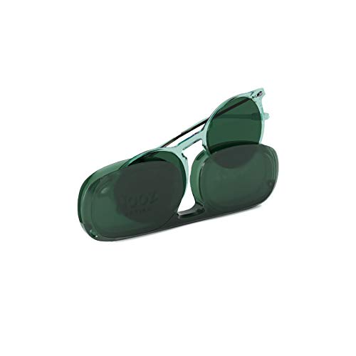 NOOZ Occhiali da sole polarizzati per uomo e donna - Protezione di categoria 3 - Colore verde - con custodia compatta - Collezione CRUZ