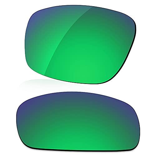 LenzReborn Reemplazo de lente polarizada para gafas de sol Costa Del Mar Reefton - Más opciones, Verde césped - Espejo polarizado, Talla única