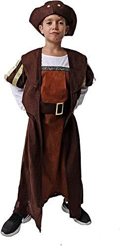Costumizate! Disfraz deCristobal Colon Talla 5-6 Especial para nios Fiestas de Disfraces o Carnaval