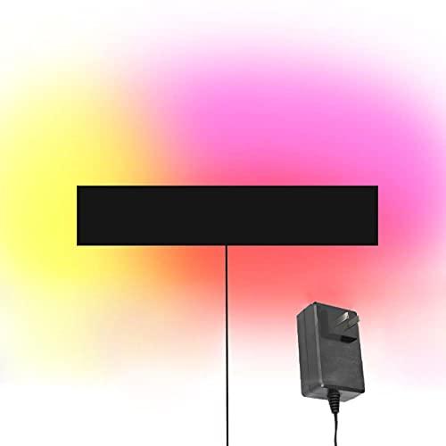 ZMLG LED Lámpara De Pared RGB Aplique De Pared Regulables Con Cable De Enchufe, Iluminación Ambiental Con Control Remoto Para Dormitorio, Negro Iluminación Interior Para Decoración Pasillo,40cm