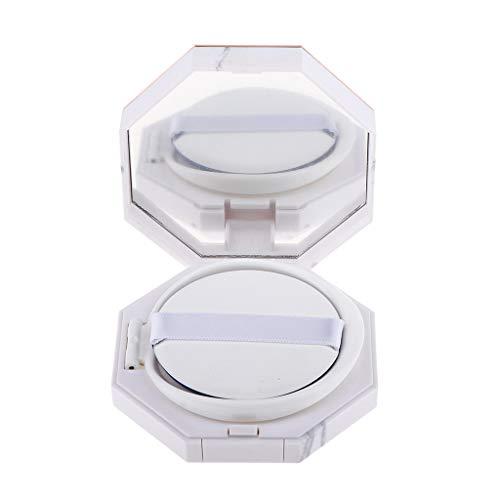 B Blesiya Cas Boîte Boîtier Coussin de Teint Vide Récipient avec Puff Eponge à Contenir Crème BB/Poudre de Fondation - 28 mm de hauteur