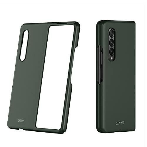 WATACHE per Galaxy Z Fold 3 Custodia, Sottile Hard PC Full Anti-Scratch Shock-Proof Bumper Flip Skin Feel Cover Protettiva con Finitura Opaca per Samsung Galaxy Z Fold 3,Verde