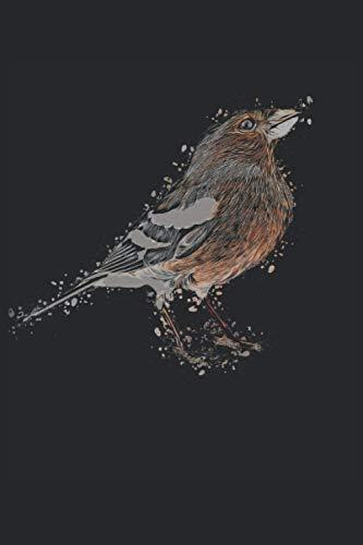 Buchfink: Sprüche 6´x 9´ Notizbuch, liniert für Vogel Narren, Vogel Freunde und Vögel Liebhaber mit coolem Cartoon Motiv: Buchfink