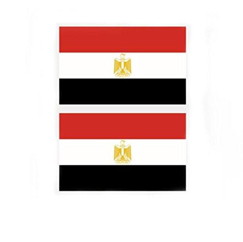 Westeng Mini Aufkleber Ägypten Flagge Aufkleber Sticker Tattoos Fußball Tasse Gesicht Aufkleber Umweltschutz Wasserdicht für Fußball Fan Auto Motorrad Handy Laptop Outdoor/Indoor