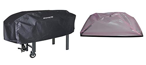 acoveritt Heavy Duty Waterproof Grill Cover for Blackstone 28' Griddle Cooking Station, Outdoor Flat Top Gas Grill Griddle Cover, Include Support Pole to