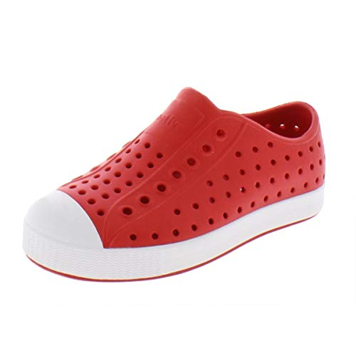 Native Shoes, Jefferson, Kids Shoe, Torch Red/Shell White, 13 M US Little Kid