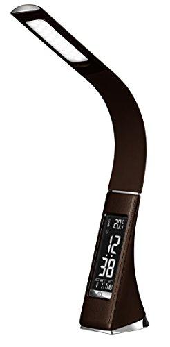 ZEPEAL ゼピール デジタル表示付LEDスタンドライト ブラウン DLS-H2008-BR