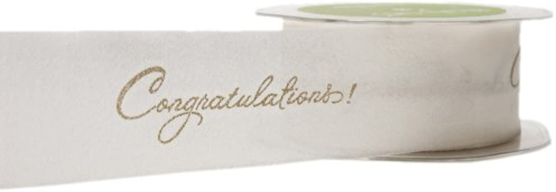 May Arts 11 2Inch Wide Ribbon gold Congratulations