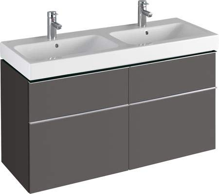 Keramag iCon Waschtischunterschrank 1190 x 620 x 477 mm, für Doppelwaschtisch Korpus/Front: Lava matt