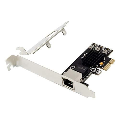 GGBEST Pci-E 2.5G Adaptador de Red Ethernet de Puerto úNico Pci-E X1 2.5G LAN Card Rtl8125 Admite el Modo 2.5G Y1G Lite
