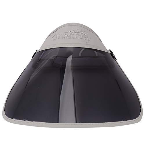 VOSAREA Damen Sonnenhut mit Gesichtsschutz Visier Schutzhelm Outdoor Sonnenmütze Gesichtsschild Gesichtsschutzschirm UV Sonnenschutz Hut Kappe für Herren Sommerhut