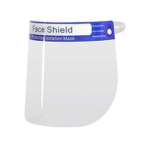Visiera Protettiva Trasparente Visore per il Viso Schermo Facciale per gli Occhi Protezione Paraschizzi contro Sputo Face Shield Lavabile