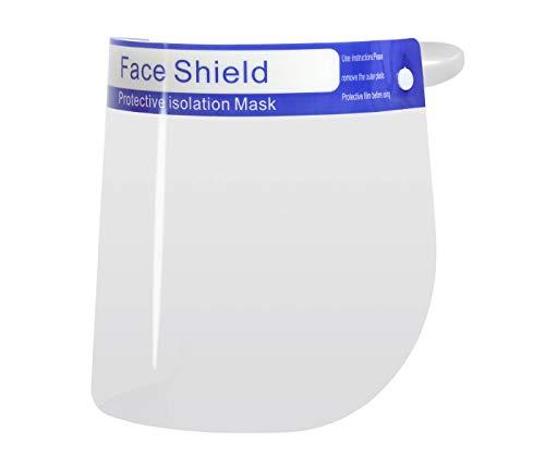 Visiera Protettiva Trasparente Visore per il Viso Schermo Facciale per gli Occhi Protezione Paraschizzi contro Sputo Face Shield Lavabile, 1 pezzo