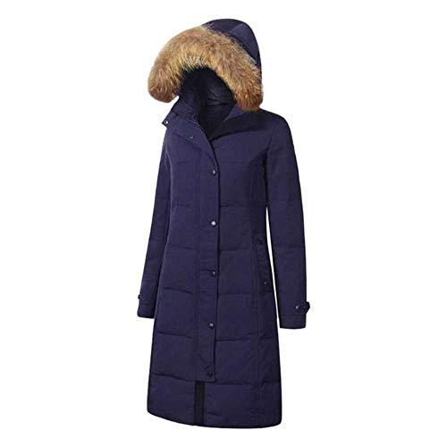 Abrigo de plumón para Mujer Invierno Mujer Color sólido Largo SeñorasParkas Bolsillos Chaqueta cálida Femenina Slim Fit Largo Parkas