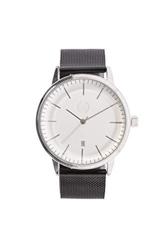 Origin Steel (Reloj analógico para Hombre, Cuarzo, Correa Malla de Acero, Acero Inoxidable, Función Calendario) Watch Business Elegantes, Tendencia, Casual Relojes de Pulsera Regalo
