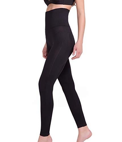SLIMBELLE Damen Bauchweg Shapewear Figurformende Shaping Leggings Starke Kompressionsleggins Slim Fit Anti Cellulite Body Leggings Formende Body Shaper