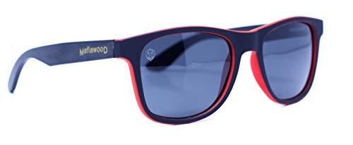 Óculos de Sol Nebrasca, Mafia Wood Exclusive Wear, Adulto Unissex, Vermelho, M