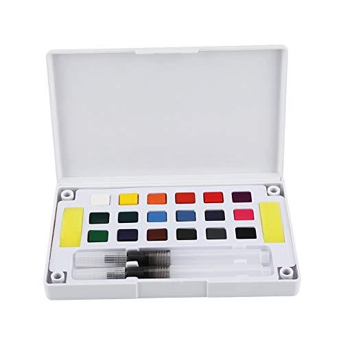 Acuarela Pintura Sólidos Pigmentos Arte Profesional Colores de Agua Set Variedad de Paleta Pintar Dibujo Colorido Dibujo de Campo Doodling(18 Color)