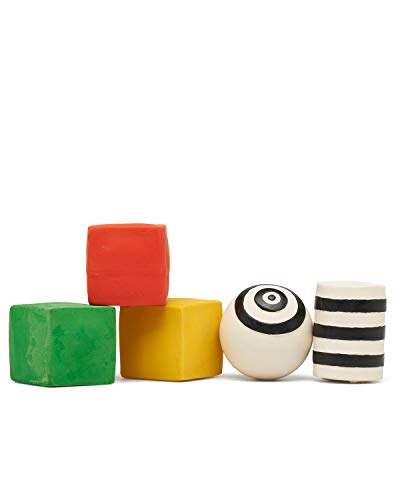 Baby Toys Developmental - Building Blocks Baby - Baby Ball - Soft Natural Rubber - BPA Free - Non-Toxic - Handmade in Spain by a Family-Owned Company Founded in 1952 - 1 month to 2 years - Set of 5