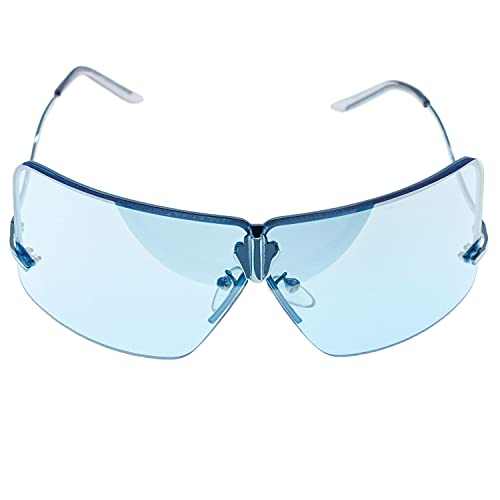 CHRISTIAN GAR Cg-4497-b Gafas De Sol Unisex Montura De Metal Color Azul