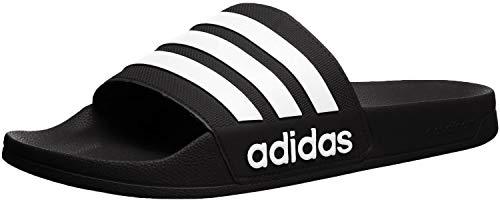 adidas Men's Adilette Shower Slides, Black/White/White, 10