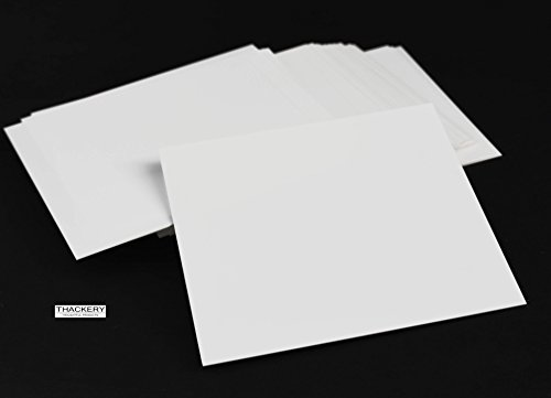 """1/3/5/10 Pieces of Thin Square Alumina Ceramic Sheets - .020"""" (.5mm) Thick X 4"""" X 4"""" - Alumina - Fully Fired Ceramic Substrate (3 Pieces)"""