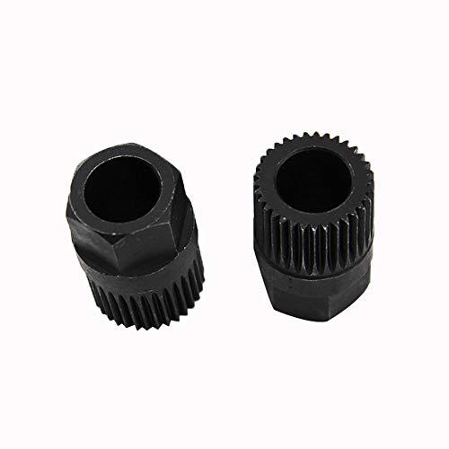 YSHtanj dynamo katrol verwijderen gereedschap onderhoud gereedschap 33 tanden dynamo vrije wiel katrol verwijderen gereedschap voor VW Audi Mercedes Benz - zwart