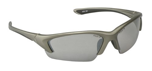 3M Safety Glasses, Nitrous, ANSI Z87, Indoor/Outdoor Clear Mirror Lens, Metallic Frame, Soft Nose Bridge