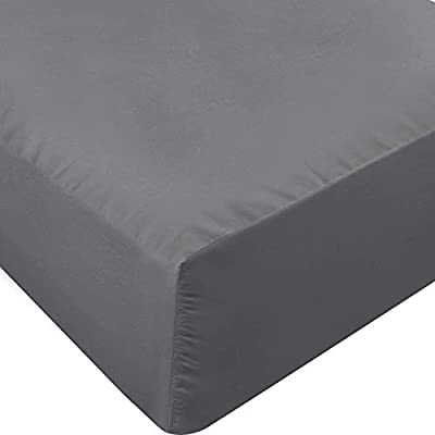 Utopia Bedding Fitted Sheet - Soft Brushed Microfiber - Deep Pockets, Shrinkage and Fade Resistant - Easy Care - 1 Fitted Sheet Only (Queen, Grey) from Utopia Bedding