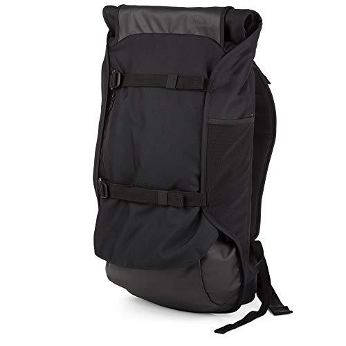 AEVOR Travel Pack - Handgepäck Rucksack, erweiterbar, ergonomisch, Rolltop System - Black Eclipse - Black